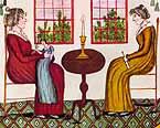 [1815 Eunice Pinney Two Women (Folk Art) JPEG]