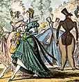 [1822 Monstrosities Cruikshank Fashion Satire Caricature JPEG]