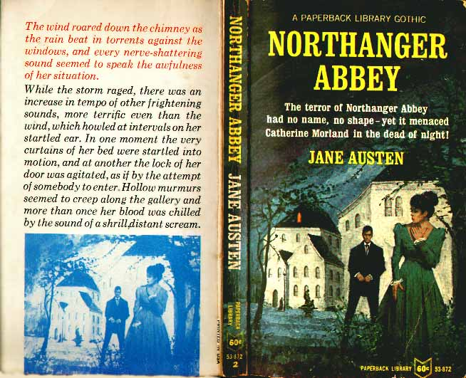 Jane austens writings silly cover of a printing of northanger abbey which was marketed as a gothic novel usa ccuart Images